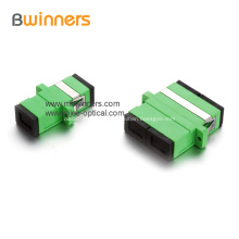Brida de acopladores de fibra óptica LC plástico dúplex simple