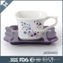 2015 nouveaux ensembles de café en céramique et porcelaine carrés de porcelaine