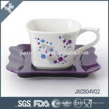 2015 novos conjuntos de porcelana cerâmica e porcelana quadrados de porcelana