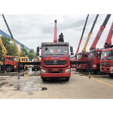 Shanqi 8x4 truck with loading crane