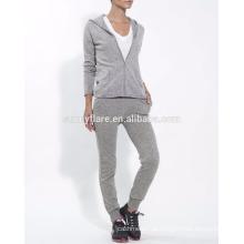 Terno de malha de cashmere elegante para mulheres