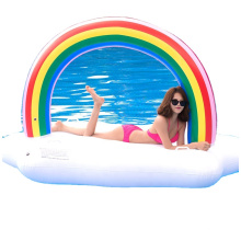 Multicolored Large Inflatable Play Pad Floating Back Outdoor Summer Beach Relief Shower Recliner