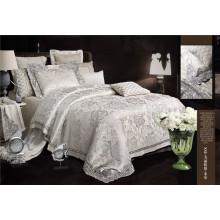 Brilhante Luxo Bordados Jacquard 7 Pedaço Duvet Cover Bedding Set