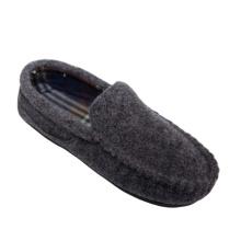 2021 Hot Selling Men Wool Blend Indoor Soft Sole Felt Plaid Fabric Flat Slipper