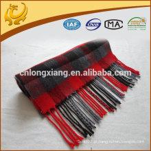Atacado China Plaid Luxurious Scarves 100% Cashmere Scarf Wholesale