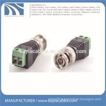 CCTV camera BNC balun video connector coax cat5e for Security monitoring
