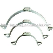 Manivelle en acier pressé à chaud en acier galvanisé collier de serrage poteau de puissance bande électrique poteau installer raccords