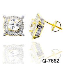 Nouveau design 925 argent mode bijoux Micro Pave oreille Studs (Q-7662)