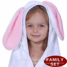 Toalla de bebé con capucha, bambú orgánico, suave y duradera, PremiumTowels, piel de secado rápido y sensible | Regalo BestShower para niña