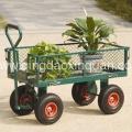 Carrinho de jardim aço com roda pneumática