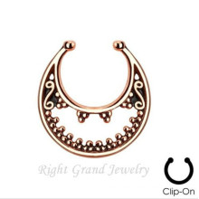 Gold indischen Nase keiner Nasenring Piercing Ring Fake Septum Piercing