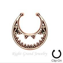 Nariz del indio oro anillo ninguno Piercing nariz anillo falso Piercing septo