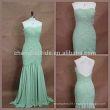 Elegant Packaged Hip Zipper Back Long Chiffon Bridesmaid Dress Under 100
