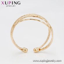 51857 Venta caliente 20 gramos de oro plateado 4pcs / set brazaletes elegantes de múltiples capas