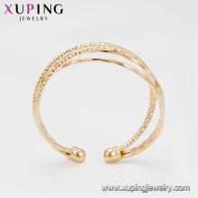 51857 Hot selling 20 gram gold plated 4pcs/set multi layer elegant bangles
