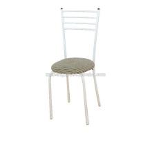 Chaise en métal avec coussin, porte-dossier Steel Tube pour maison
