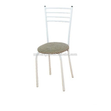 Metal Chair with Cushion, Backrest Chair Steel Tube for Home