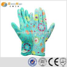 Sunnyhope China Hersteller palm Knit allgemeine Nitril Nylon beschichtet glovs