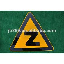 High quality glass fiber reinforced plastics triangle traffic sign board