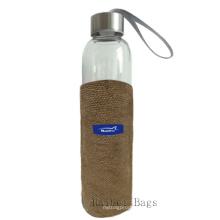 Jute Taschen für Wasserflasche