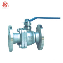 China Factory Hot Sale GB DIN PN16 Stainless Steel Flange Ball Valve with Lever