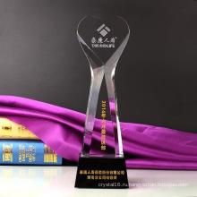 Хрустальный Кубок мира трофей ремесло Пескоструйный логотип с базы