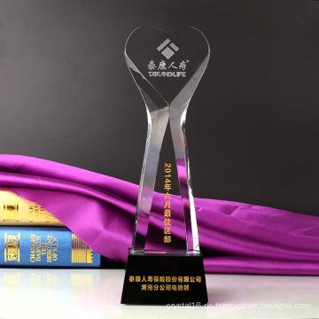 Crystal World Cup Trophy Craft Sandstrahlen Logo mit Base