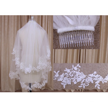 Two Layers Wedding Veil with Comb
