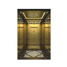 XIWEI Titanium Wall & Decorative Ceiling Passenger Elevator / Villa Lift