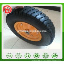 16 inch 4.00-8 Lug pattern Rueda de carretilla neumática, rueda de goma, piezas de carretilla