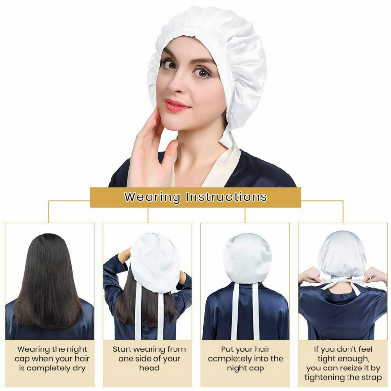 Hair Silk Night Sleep Cap