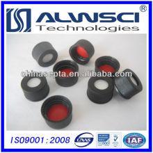 13mm rote ptfe weiße silikon septa mit schwarzer schraube offene obere kappe montiert