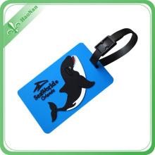 Kundenspezifischer weicher PVC-Gummireise-Gepäckanhänger