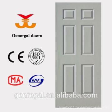 PU foam infilling white interior wood door