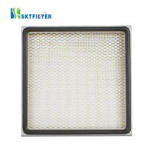 High efficiency compressed air filter resistance air cleaner deep pleated hepa filters