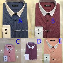 Exquisite Männer Business Casual Streifen Shirt 2014 Neueste Männer Matched Collar Und Cuff Shirts Mit Single Breasted Design NB0585