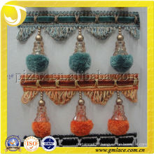 Colorful Pompom pompon pour rideaux Curtain Tassel fringe trim for home and Textile Decor