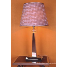 Decorative Pink Fabric Iron Table Lamp for Bedroom