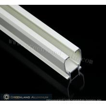 Electrophoresis White Aluminum Curtain Track Profile