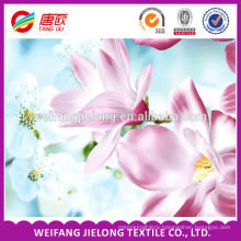 100% polyester fresh flower pattern beautiful floral design prints bedsheet fabric
