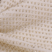 Breathable White Wire Jacquard Spandex Knitted Fabric