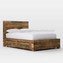 Cama de madera King Size Storage