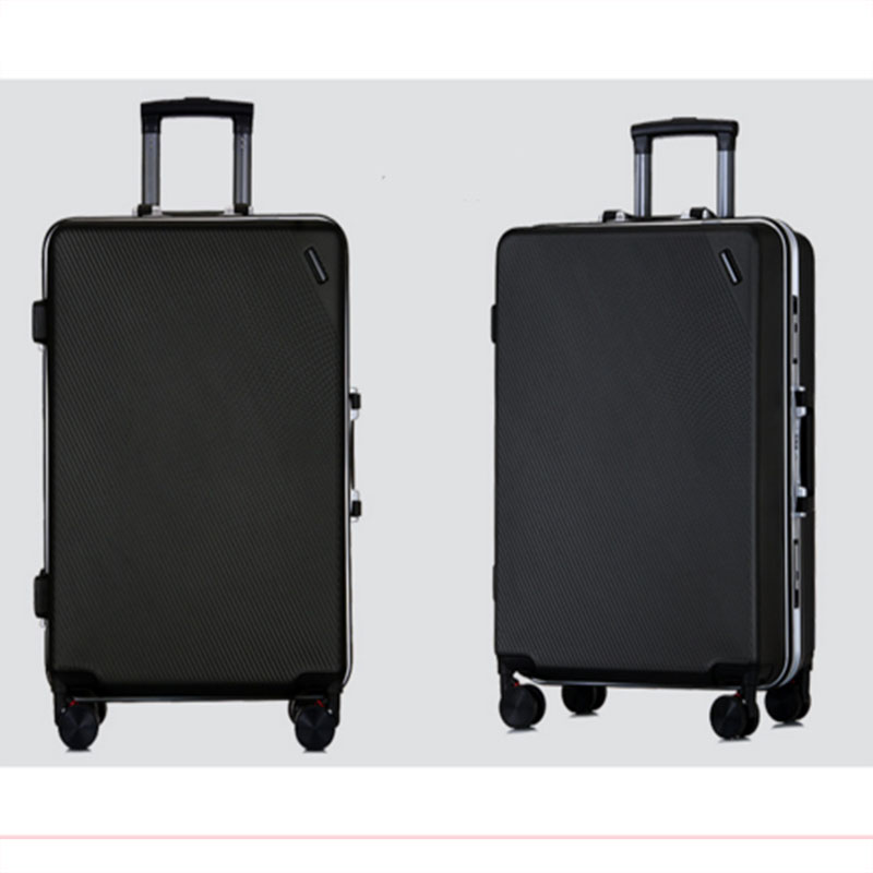 Black aluminium frame luggage