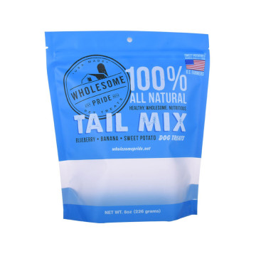 Zipper Resealable Pet Food Bag Dog Treat Stand Up Pouch Packaging