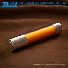 ZB-RD15 15ml cristalino liso redondo giratório plástico frasco mal ventilado para loção