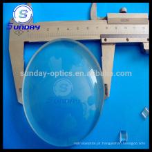 Vidro óptico convexo da lente de grande plano do diâmetro de 100mm 150mm