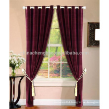China supplier red velvet led stage curtain screen grommet curtain