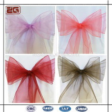 Hot Selling Wedding Decoration Satin Sash/ Chair Cover Sashes Organza for Sale