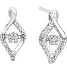Art und Weise 925 silberne Bolzen-Ohrringe mit Diamant-Tanzen-Schmucksachen