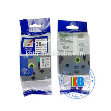 Pas cher prix tube d'étiquette thermo-rétractable impression tz231 noir sur cassette d'imprimante d'étiquette blanche